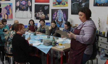 15 апреля состоялся мастер-класс по правополушарному рисованию