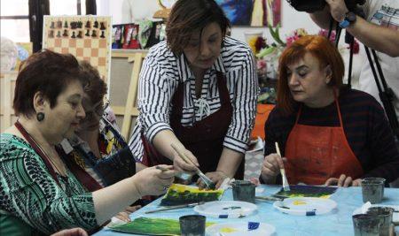 22 апреля прошёл второй мастер-класс по правополушарной живописи