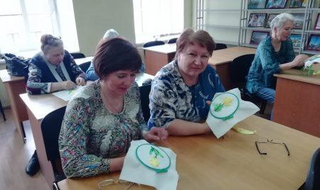 30 апреля прошёл мастер-класс по вышиванию лентами