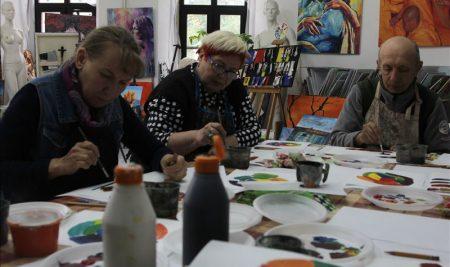 20 мая состоялись два занятия правополушарной живописью