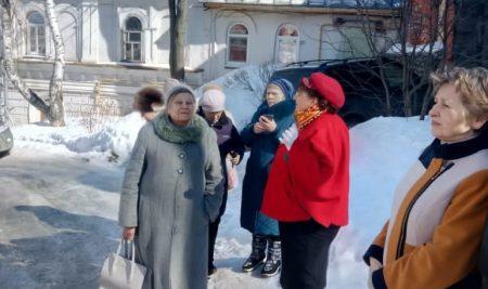 23 марта состоялась демонстрационная экскурсия по улице Рождественской